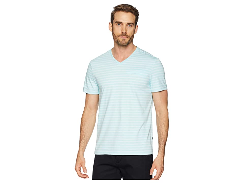 Calvin Klein All Over Stripe Pocket T-Shirt (Plume Combo) Men