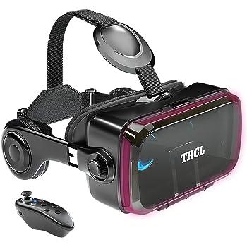 VRゴーグル スマホ用VRゴーグル VRヘッドセット 「技適認証済」 アンチブルーレンズ 瞳孔/焦点距離調節 軽量 1080PHD高画質 3D ゲーム 映画 動画 4.7~6.2インチの iPhone Android などのスマホ対応 ワンクリック受話 Bluetoothリモコン 携帯 vrゴーグル