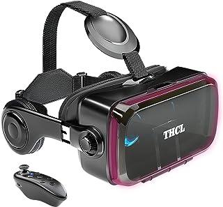 VRゴーグル vrゴーグルスマホ用 VR VRヘッドセット 通話に応答する機能付き アンチブルーレンズ 瞳孔/焦点距離調節 1080PHD画質 3D ゲーム映画動画 4.7~6.2インチの iPhone Android などのスマホ対応 Blu...