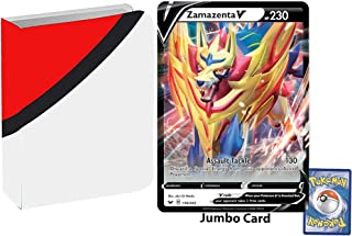 Totem World Bundle Jumbo Oversized Zamazenta V Promo Pokemon Card with a Totem Jumbo Binder Collectors Album