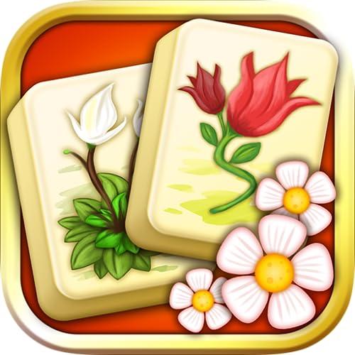 Mahjong Blumengarten Puzzle