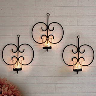 TIED RIBBONS Wall Hanging Tealight Candle Holders Decorative Items for Living Room - Wall Hanging Tealight Candle Holder M...
