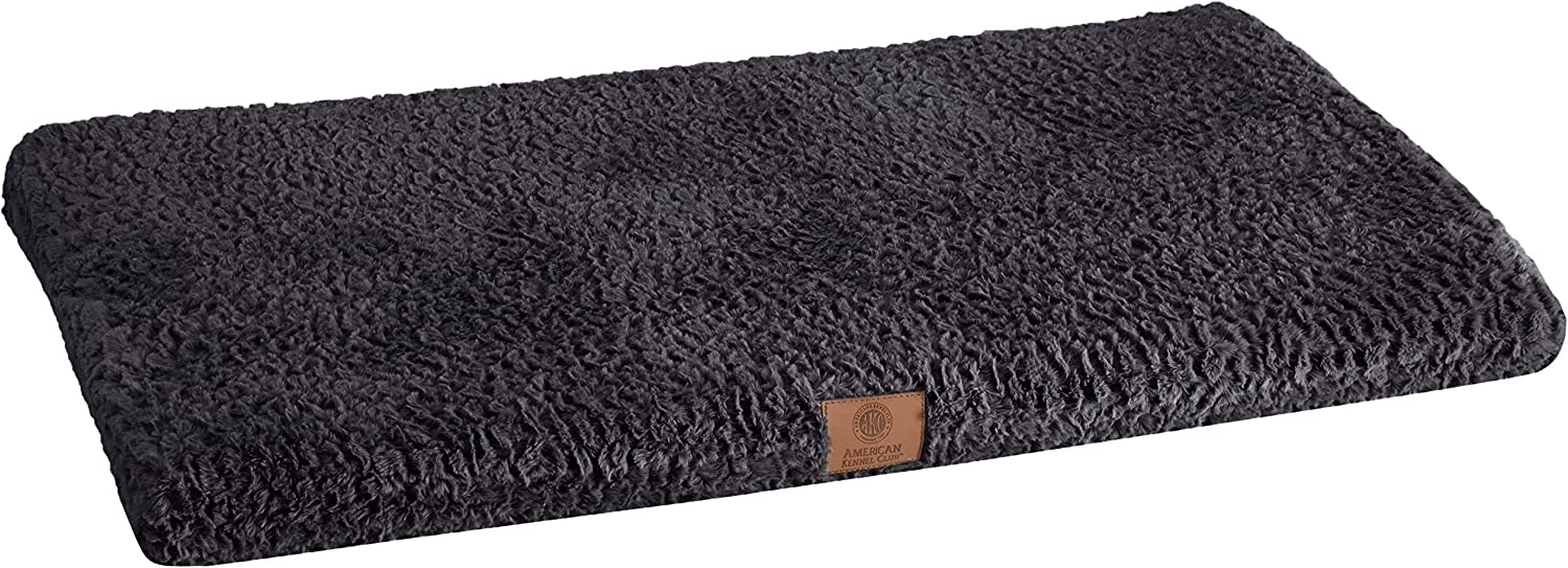 American Kennel Club Orthopedic Crate Mat, 42 by 27Inch, Black