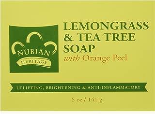 Nubian Heritage Lemongrass & Tea Tree Bar Soap, 5 oz (Pack of 4)