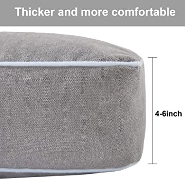 Rainlin Thicken Floor Pillows for Seating Solid Thick Tufted Seat Cushion Meditation Cushion for Yoga Living Room Sofa Tatami