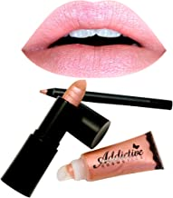All Natural Organic Lipstick, Liner and Lip Gloss Set- FAWN- Vegan Friendly and Cruelty Free Cosmetics- Made in the USA