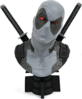 DIAMOND SELECT TOYS San Diego Comic-Con 2019 Marvel Legends in 3-Dimensions X-Force Deadpool 1: 2 Scale Bust, Multicolor