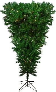 Northlight 7' Pre-Lit LED Sugar Pine Upside Down Artificial Christmas Tree - Clear Lights