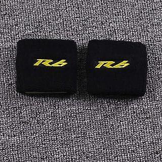 MISDD Motorrad 3D R6 Bremsflüssigkeit vorne Ölbehälter Abdeckungs Schutz for Yamaha YZF R6 R6S 600 YZFR6 YZFR6 Reservoir Socke Ersatzteile & Zubehör (Color : C)