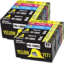 Yellow Yeti Reemplazo para Canon PGI-1500XL PGI-1500 XL Cartuchos de Tinta compatibles con Canon MAXIFY MB2050 MB2350 MB2750 MB2150 MB2155 MB2755 (4 Negro + 2 Cian + 2 Magenta + 2 Amarillo)