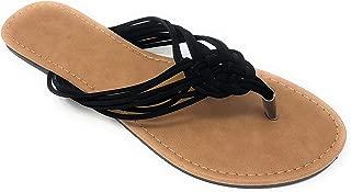 Women's Braided Thong-Toe Slip-On Flip-Flop Sandal