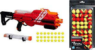 NERF Rival Hypnos XIX-1200 Blaster, Red Bundle Rival 50-Round Refill, Yellow/Red