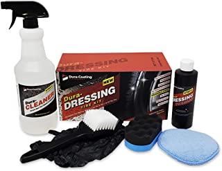 Dura-Dressing Total Tire Kit, XL Kit for 2-3 Cars or 1 Large Truck – Tire Dressing and Cleaning Kit – Made in The USA to E...