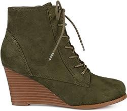 Amazon.com: Olive Green Booties
