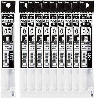 ぺんてる ボールペン替芯 エナージェル 0.7mm XLR7-A 黒 10本