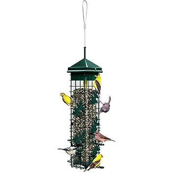 Squirrel Solution200 Squirrel-proof Bird Feeder w/6 Feeding Ports, 3.4-pound Seed Capacity, Free Seed Funnel