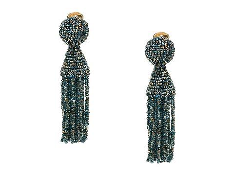 Oscar de la Renta Short Beaded Tassel C Earrings