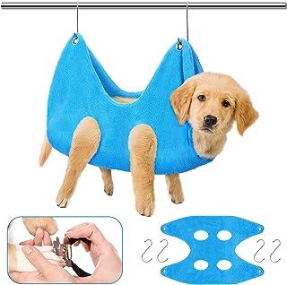 Yookeer Pet Grooming Hammock Helper 2 در 1 حوله خشک کننده سگ و تمیز کردن سگ ، کیف چند منظوره سگ حوله ای سگ کیسه مهار حیوانات خانگی برای نظافت ناخن گیر شستشو نظافت