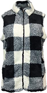 Stillwater Supply Women's Sherpa Classic Plaid Vest with Pcokets