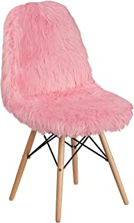 Flash Furniture Shaggy Dog Light Pink Accent Chair