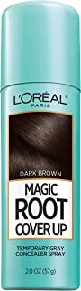 L'Oreal Paris Magic Root Cover Up Gray Concealer Spray Dark Brown 2 oz.
