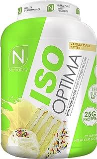 NutraKey ISO Optima Vanilla Cake Protein Supplements, 5 Pound