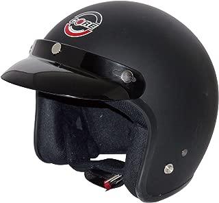 Core Vintage Open Face Helmet (Flat Black, Large)