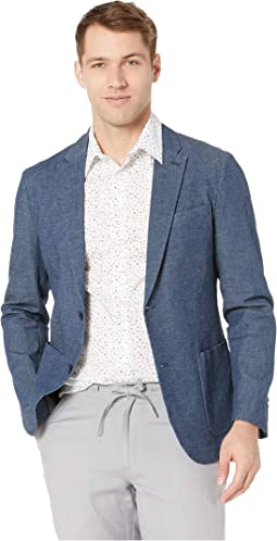 Slim Fit Stretch Linen Suit Jacket