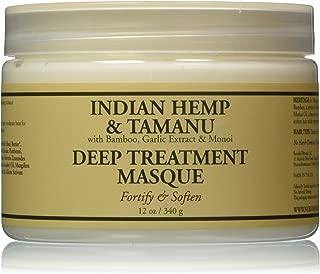 Nubian Heritage Grow and Strengthen Treatment Hair Masque, Indian Hemp and Tamanu, 12 Ounce