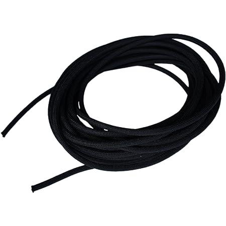 White with Black fleck Bungee Rope Shock Cord Elastic 10 Metre x 5mm in Black