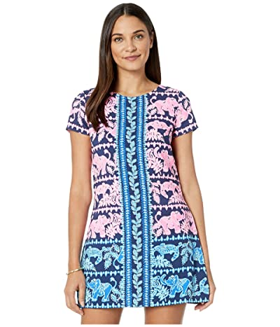 Lilly Pulitzer Blanca Stretch Romper (High Tide Navy Perfect Pair Engineered) Women