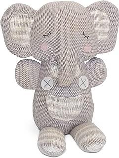 Living Textiles Grey Theodore Elephant Plush (Knit)