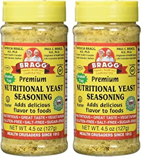 Bragg Nutritional Yeast Seasoning – Vegan, Gluten Free Cheese Flakes – Good Source of Protein & Vitamins – Nutritious Savo...