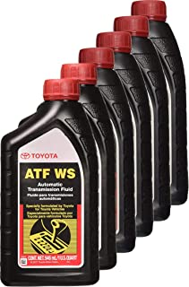 Toyota 6 Pack 00289-ATFWS Automatic Transmission Fluid, 192 Ounces, 6 Pack, 192 Ounces, 6 Pack