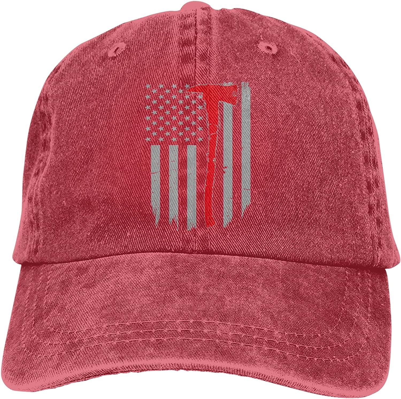Thin Red Line Axe Firefighter Flag Unisex Adjustable Cotton Baseball Hat Cowboy Cap Dad Hats Denim Trucker Hat