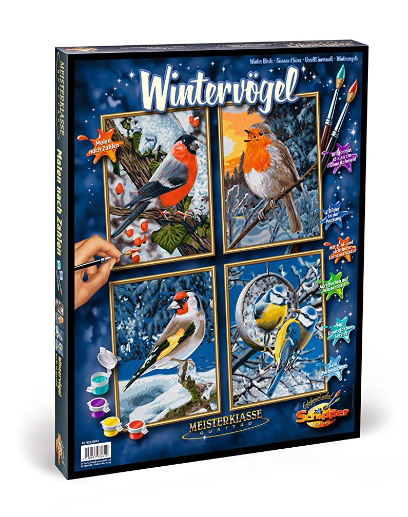 Norris Paint by#S: Winter Birds (Quattro) Paint by#