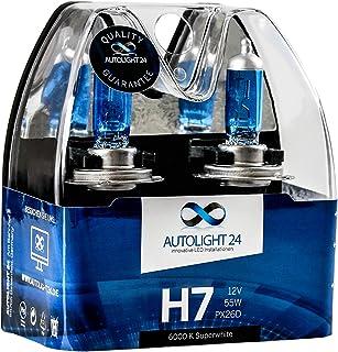 2 x H7 AutoLight24 55W ABBLENDLICHT XENON LOOK HALOGEN LAMPEN 6000K H10