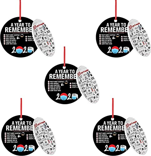 2021 OPTIMISTIC 2020 online Christmas Ornament Decorations Kit, Double-Side Printd, outlet sale Personalized Xmas Tree Hanging Ornament- Toilet Paper Crisis, Quarantine, Mask, Disc Wooden Ornament Home Holiday Décor sale