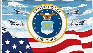 Bonsai Tree Air Force Flag 3x5 Ft, Double Sided and Double Stitched Army Military Flags with Brass Grommets American Flag Garden House Outdoor Banners