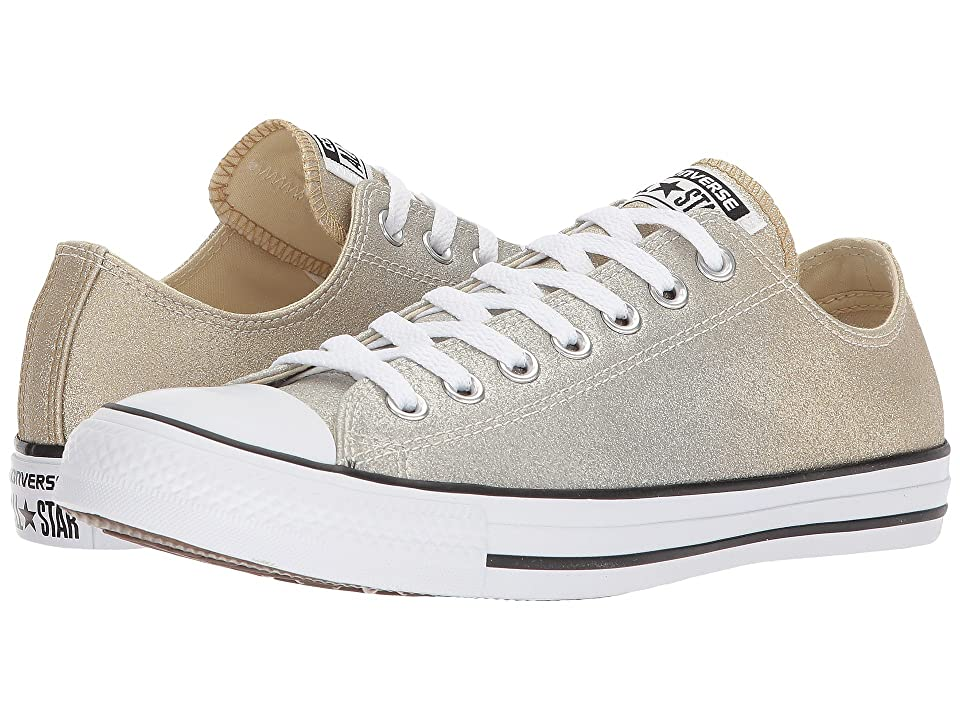 Converse Chuck Taylor(r) All Star Canvas Ombre Metallics Ox (Light Gold/Aged Gold/White) Classic Shoes