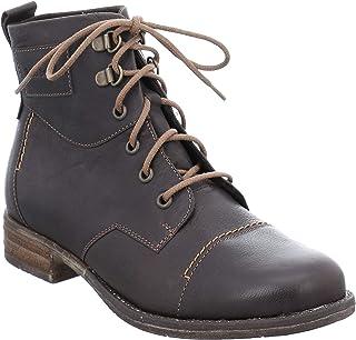 Women/'s Josef Seibel Fabienne 45 Black//Brown Leather Mid-Calf Boots