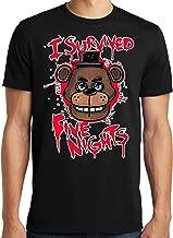PubliciTeeZ FNAF I Survived Five Nights at Freddy's Adult T-Shirt S-6XL (S, Black)