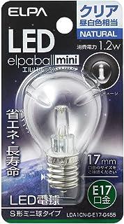 ELPA エルパ LED電球S形E17 昼白色 屋内用 省エネタイプ LDA1CN-G-E17-G455