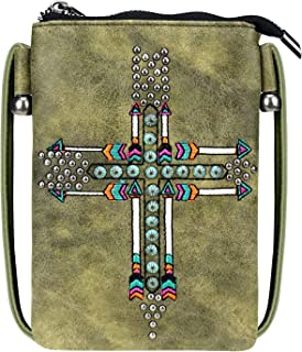 Small Crossbody Purse for Women With Cellphone Pocket on the Back