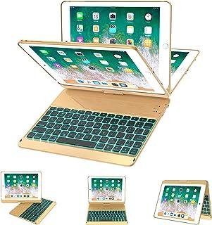 iPad Keyboard Case 9.7 for iPad 2018 (6th Gen) - 2017 (5th Gen) - iPad Pro 9.7 - iPad Air 2 & 1, 7 Color Backlit Keyboard ...