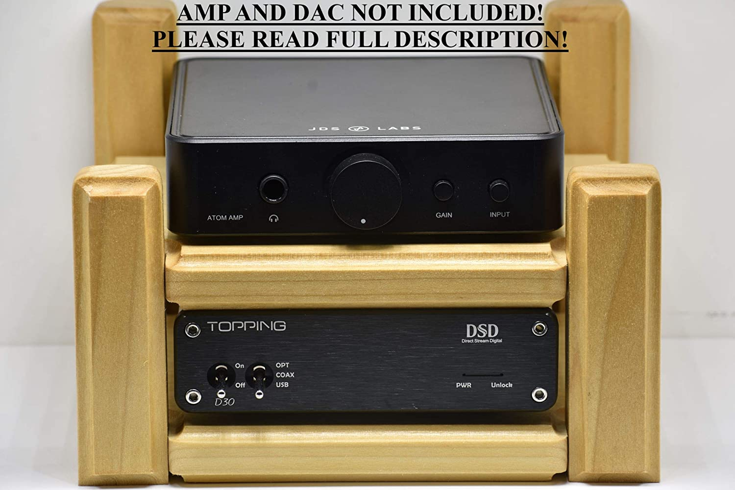 Topping Mail order D30 DAC A30 Amp stand Atom JDSLABS Easy-to-use display