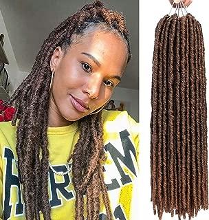 Karida 6PCS 18inch 18Strands Goddess Faux Locs Crochet Hair Straight Goddess LocsSynthetic Hair Crochet Braids Bomba Dreadlocks Faux Locs Soul Hair Extension (T1B/30)