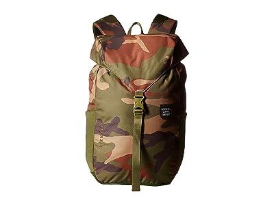 Herschel Supply Co. Barlow Medium (Woodland Camo) Backpack Bags