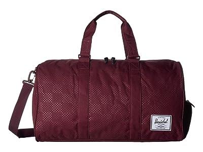 Herschel Supply Co. Novel (Plum Dot Check) Duffel Bags
