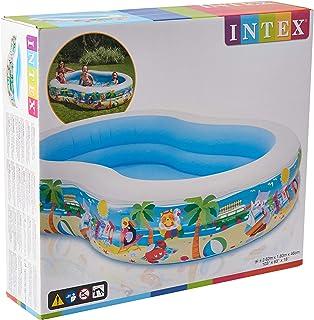 Intex Swim Center Inflatable Paradise Seaside Swimming Pool, Multi-Colour, 56490